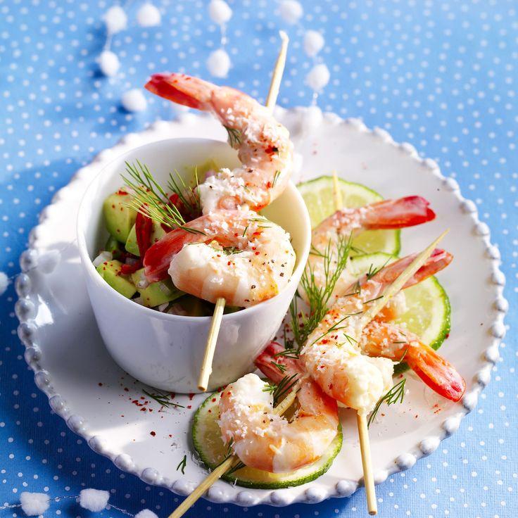 Découvrez la recette des crevettes au punch coco-gingembre