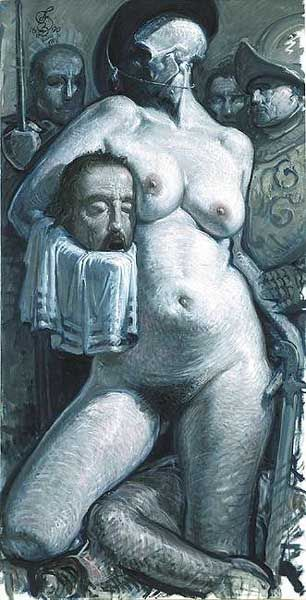Franciszek Starowieyski olej na płótnie,102 x 200,5 cm