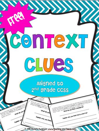 Teaching and Tapas: 2nd Grade in Spain: Context Clues FREEBIE!