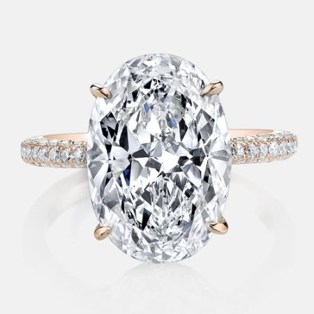 CHELSEA is one of our most popular solitaire engagement rings with 3 rows of diamonds on the band.