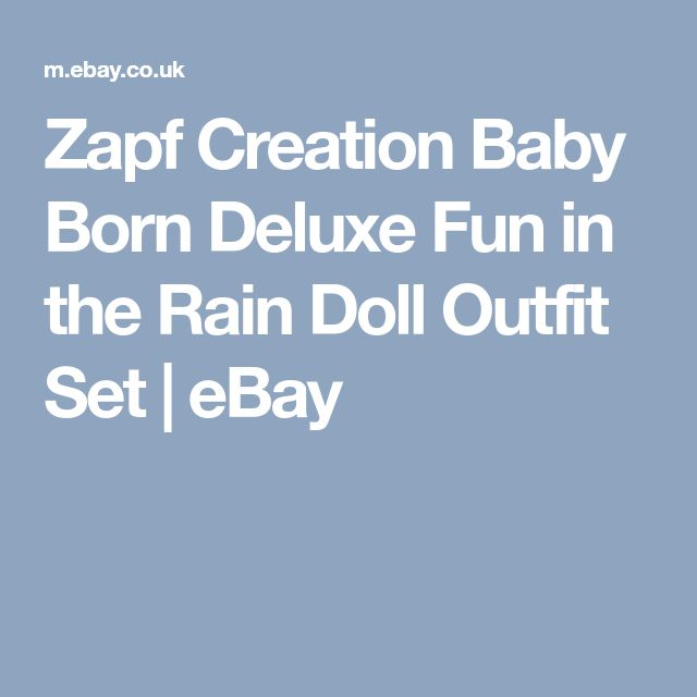 Zapf Creation Baby Born Deluxe Fun in the Rain Doll Outfit Set | eBay