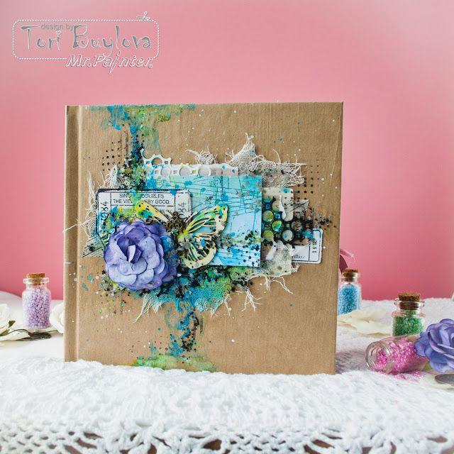 Фото разворотов ТМ Mr.Painter: Вдохновение от дизайнеров: мини-альбом от Тори Буйловой