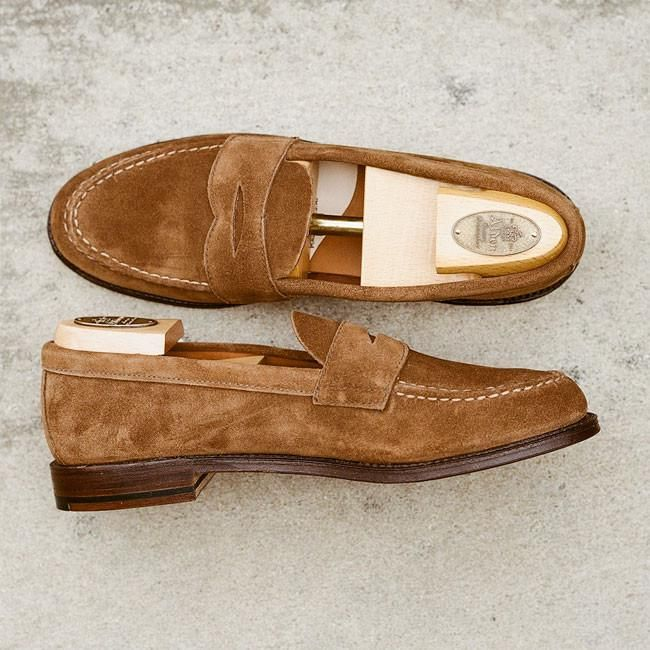 3e2ee6846ff Alden Snuff Suede Unlined Penny Loafer in 2019