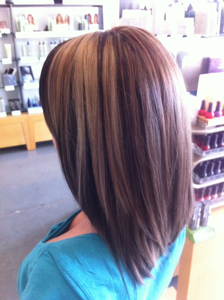 Medium blonde highlights with lowlights. Aveda color. Long
