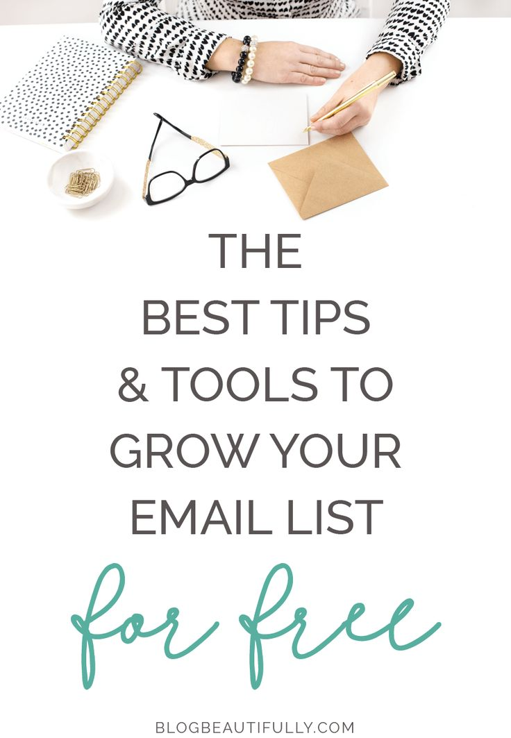 Ready to grow your email list overnight? Here are 5 tips + the best free tools to start growing your email list exponentially. From blogbeautifully.com