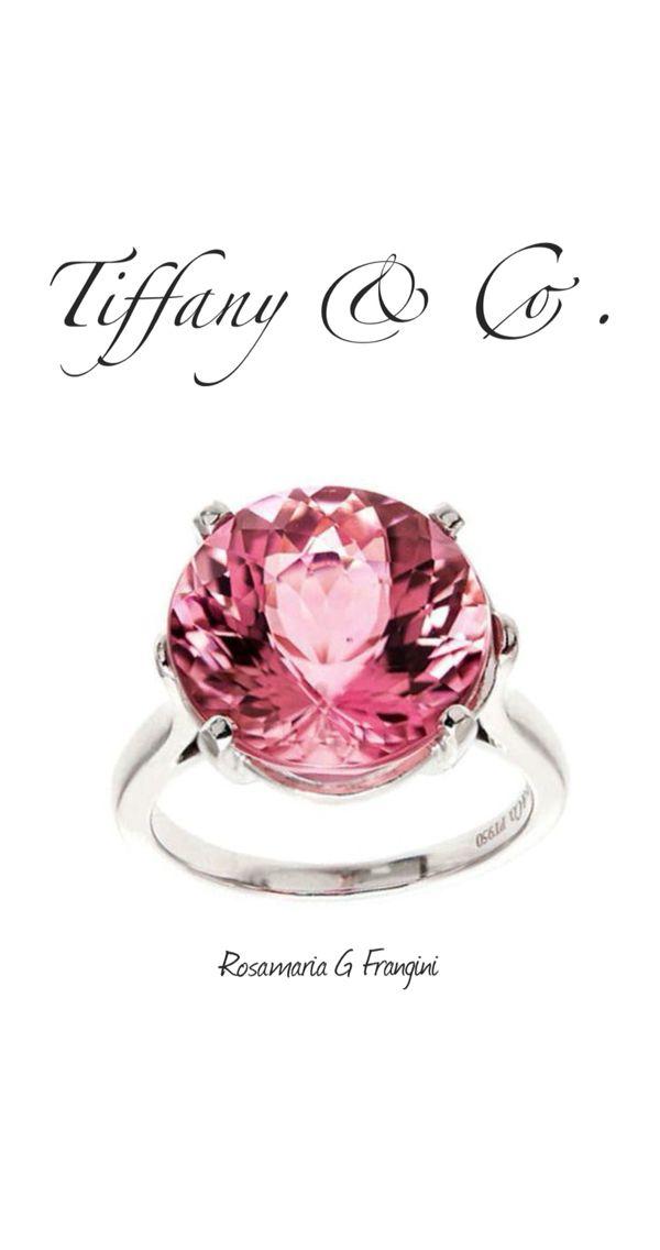 Rosamaria G Frangini | High Pink Jewellery | Tiffany Natural 8.59ct Certified Pink Tourmaline Platinum Ring.