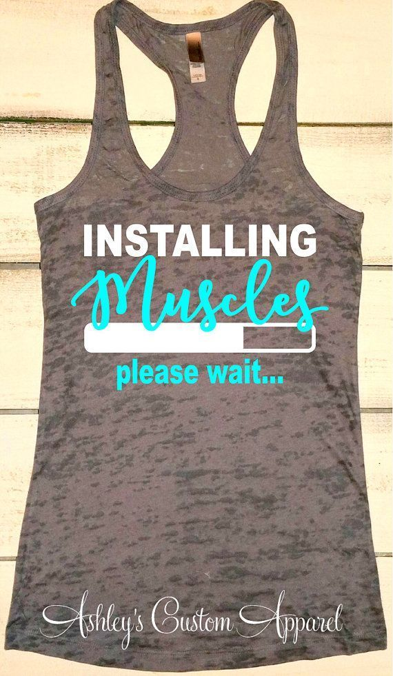 Inspirational Work Out Tanks, Funny Fitness Apparel, Womens Workout Shirts, Muscles Tank Top, Motivational Fitness, Cute Gym Shirts s by AshleysCustomApparel