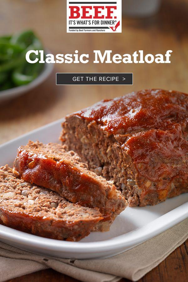 Classic Beef Meatloaf Recipe In 2020 Beef Meatloaf Ground Beef Meatloaf Classic Meatloaf Recipe