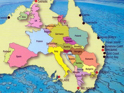 Just to prove how big Australia really is..