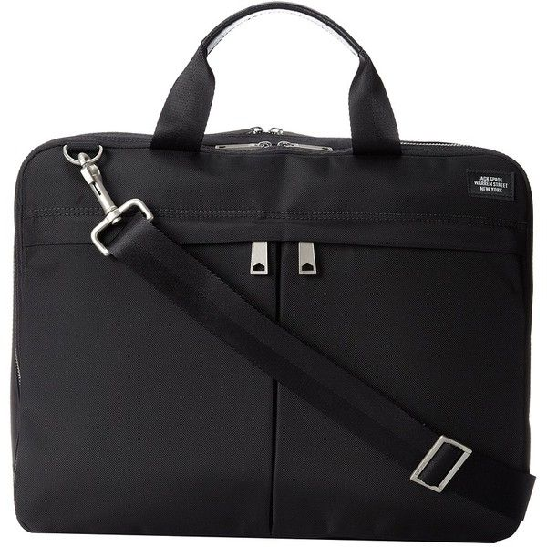 Jack Spade Large Travel Brief ($428) ❤ liked on Polyvore featuring men's fashion, men's bags, men, black and laptop bags