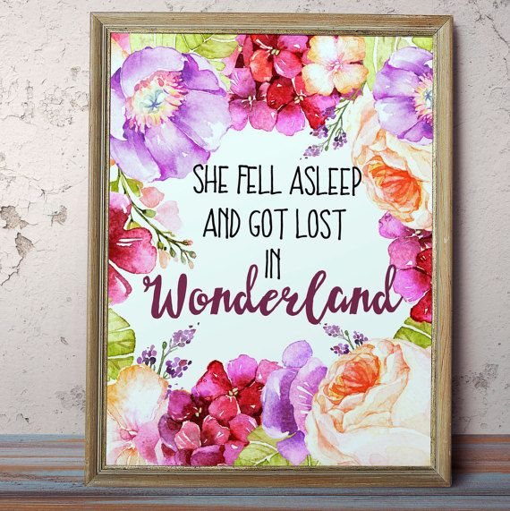 Alice In Wonderland Print Nursery Art Printable Kids By AlniPrints