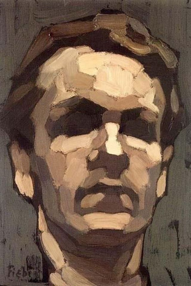 Michael Mentler. Excellent example of planes of the face and how to capture through brush marks and tone.