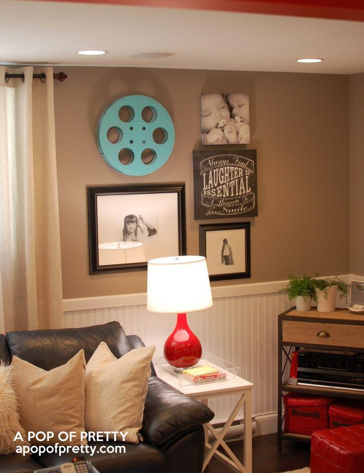 basement decorating ideas gallery wall 23
