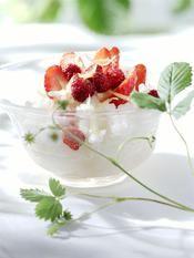 Recette riz au lait aux fraises et fraises des bois