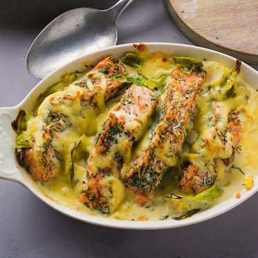 Lachs-Spitzkohl-Auflauf Rezept | Küchengötter