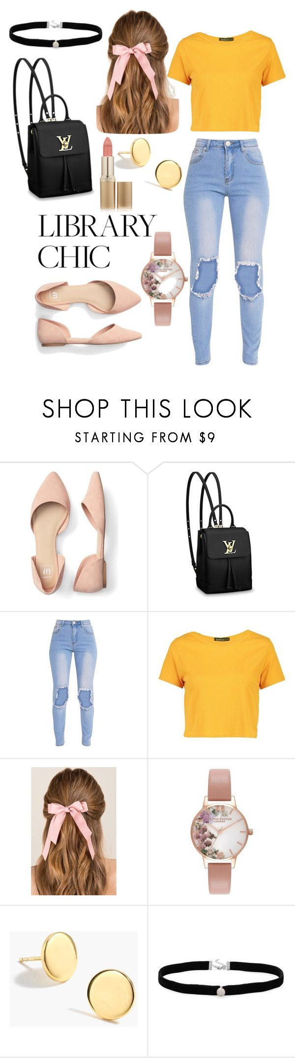 """Bright day ahead"" by queenrona ❤ liked on Polyvore featuring Louis Vuitton, Boohoo, Francesca's, Olivia Burton, J.Crew, Amanda Rose Collection and L'Oréal Paris"