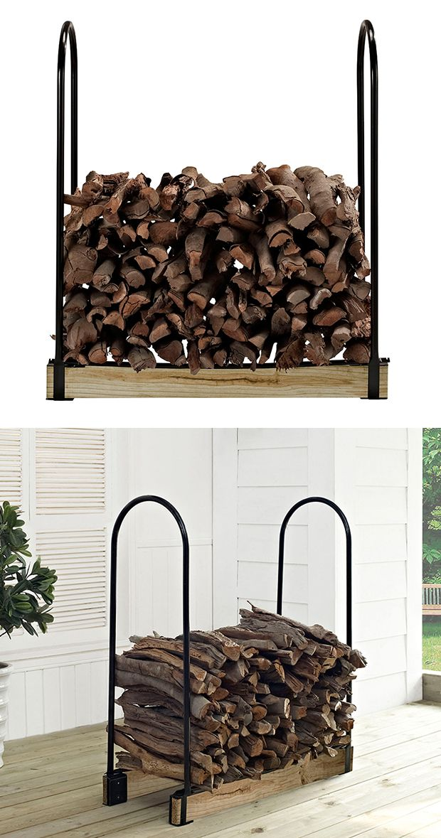 Whether you're accommodating a large fire pit or a smaller indoor fireplace, this adjustable rack will easily fit your needs. Made from tubular steel, this Anders Firewood Storage Rack boasts an open-a...  Find the Anders Firewood Storage Rack, as seen in the How to Style a Modern Eclectic Home Collection at http://dotandbo.com/collections/how-to-style-a-modern-eclectic-home?utm_source=pinterest&utm_medium=organic&db_sku=118338