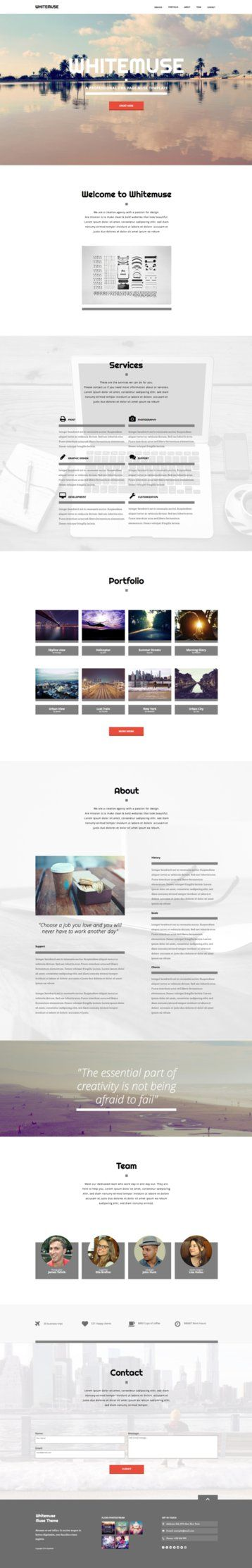 34 best adobe muse templates images on pinterest adobe muse whitemuse one page muse theme by stylewish adobe muse template on themeforest pronofoot35fo Image collections