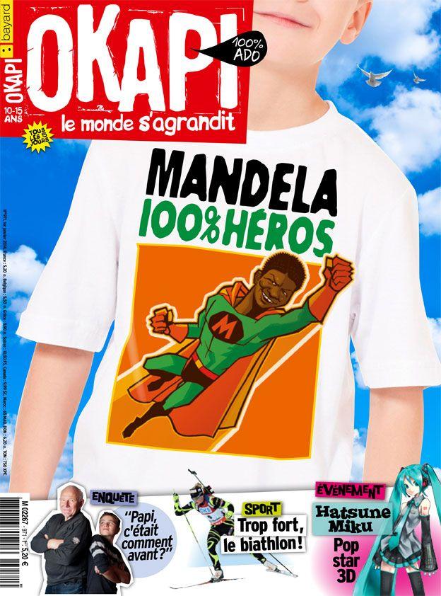 Dossier : Nelson Mandela, 100% héros (p. 10-16) Décodage : Biathlon, tu te pointes ou tu tires ! (p. 18-19) Question : Comment faire la paix après la guerre ? (p. 20-22) Enquête : c'était comment, ta vie d'ado ? (p. 26-31) L'événement : Hatsune Miku, la pop-star virtuelle (p. 34-35) BD  : Les oranges de versailles (p. 45-50)