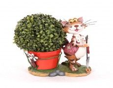 Small Standing Cat Statue