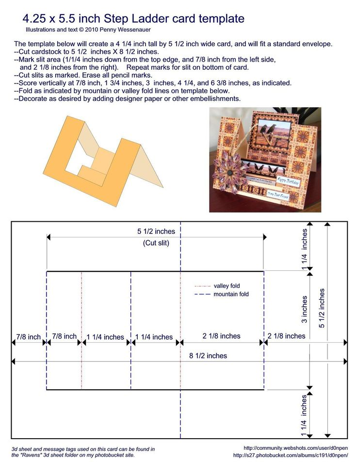 Card Templates :: 4.25 x 5.5 step ladder image by d0npen - Photobucket