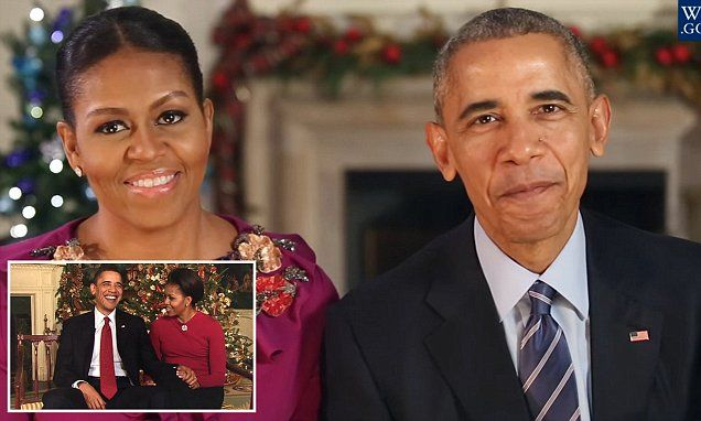 In their final Christmas greeting, the president and the first lady thanked the American people for the 'privilege' of serving them over the course of two terms in the White House.