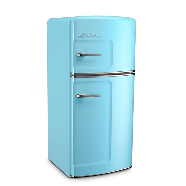 Beach Blue Retro Refrigerator by Big Chill