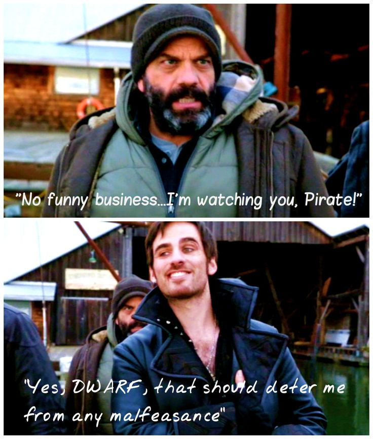 OUAT 2x13. I love this scene...Hook is so hilarious