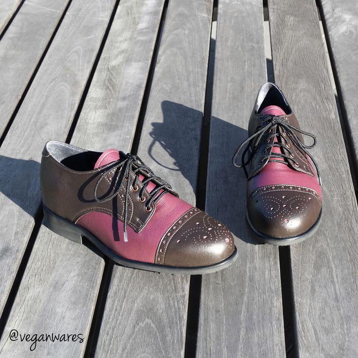Vegan Wares MTO Emma Brogue shoes (on bolen).