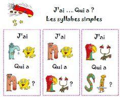 lecture de syllabes - jeu collectif