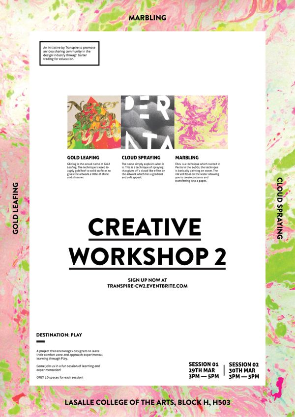 (via Creative Workshop 2 - Poster on Behance)