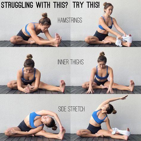 yoga  hamstringinner thighside stretch pilatesworkout
