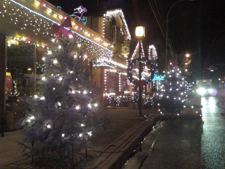 Movie Set November Christmas in Wolfville NS John Corbett