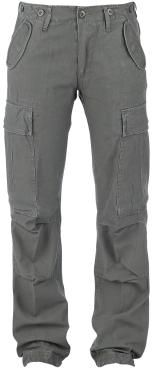 """Original """"Brandit"""" - """"M65 Ladies Trousers""""   - loose fit - comfy cut legs - medium rise - vintage style - two slide-in pockets - two stitched-on leg pockets - two back pockets - drawstring in the leg seams - individual width adjustment by waist strap - buttons for braces on the outer waistband - stretch wrinkles in the knee area  The M65 Ladies Trousers are the feminine version of the legendary army trousers in Loose Fit: slighty low cut and loose fitting leg. The pockets ..."""