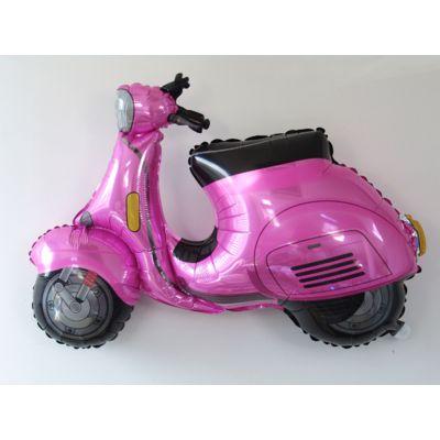ballon-scooter-vespa-rose