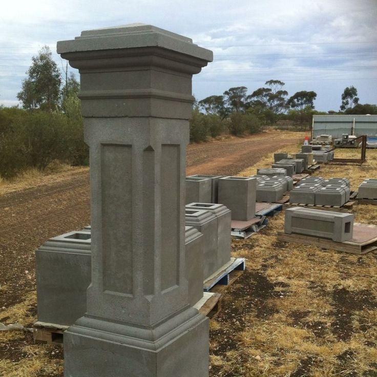 Precast Fence Pillars & Columns -   Sandstone Texture