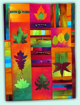 Melody Johnson: Art Quilts - Botanicals I was blown away by her quilt art!!!!!