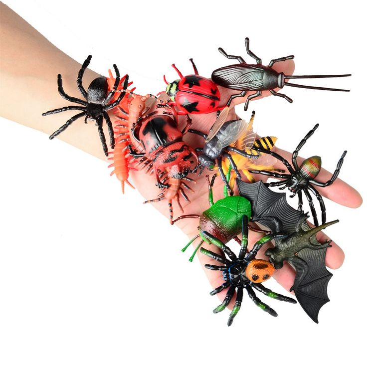 12 Pcs Chameleon Centipede Spider Beetle Insect Locust Scorpion Toy Animal Collection Models Action Figures //Price: $9.95 & FREE Shipping //     #actionfigurecollectors