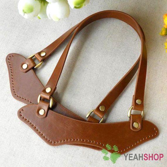 Imitation Leather Bag Handles  BROWN  195cm x 20cm  by yeahshop, $11.90
