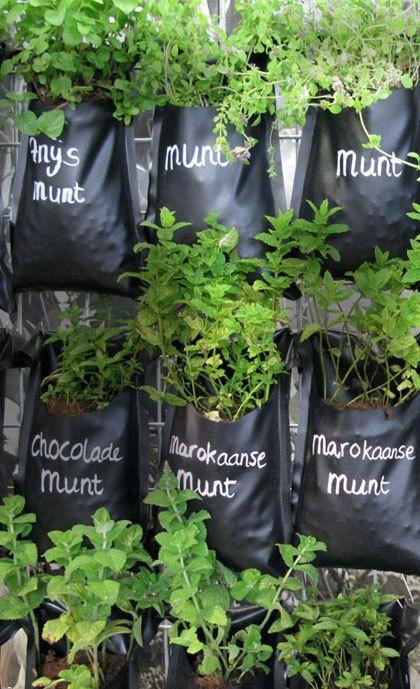 zelf plantenzakken maken, van vijverfolie