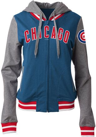Chicago Cubs Womens Blue Opening Night Full Zip Jacket