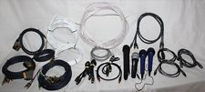 Lot of Microphones, Cables AV etc - Toslink, Monster, QED Speaker Wire, W-Audio