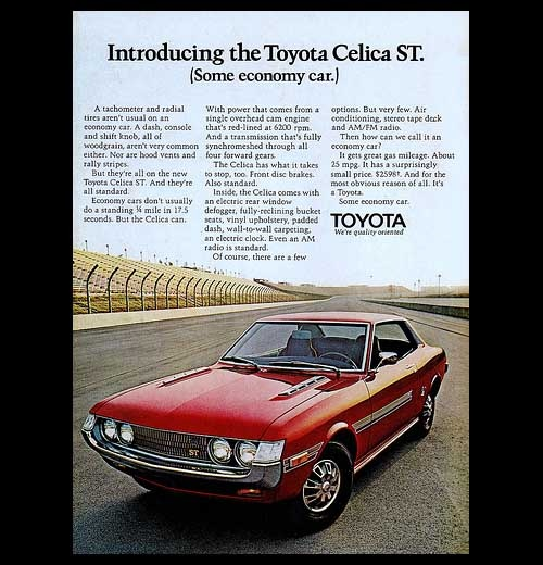 #Toyota #Celica Vintage Ad ... Check That Car Out