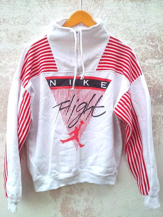 Vintage Vtg 80's NIKE FLIGHT Air Jordan Basketball Michael Jordan Pullover Sweatshirt Sweater on Etsy, $42.00