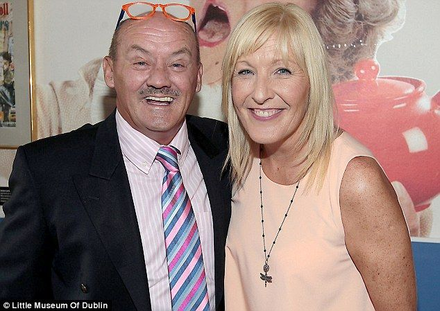 Exhibition opening: Brendan with his wife Jennifer Gibney who plays his daughter Cathy in Mrs Browns Boys.