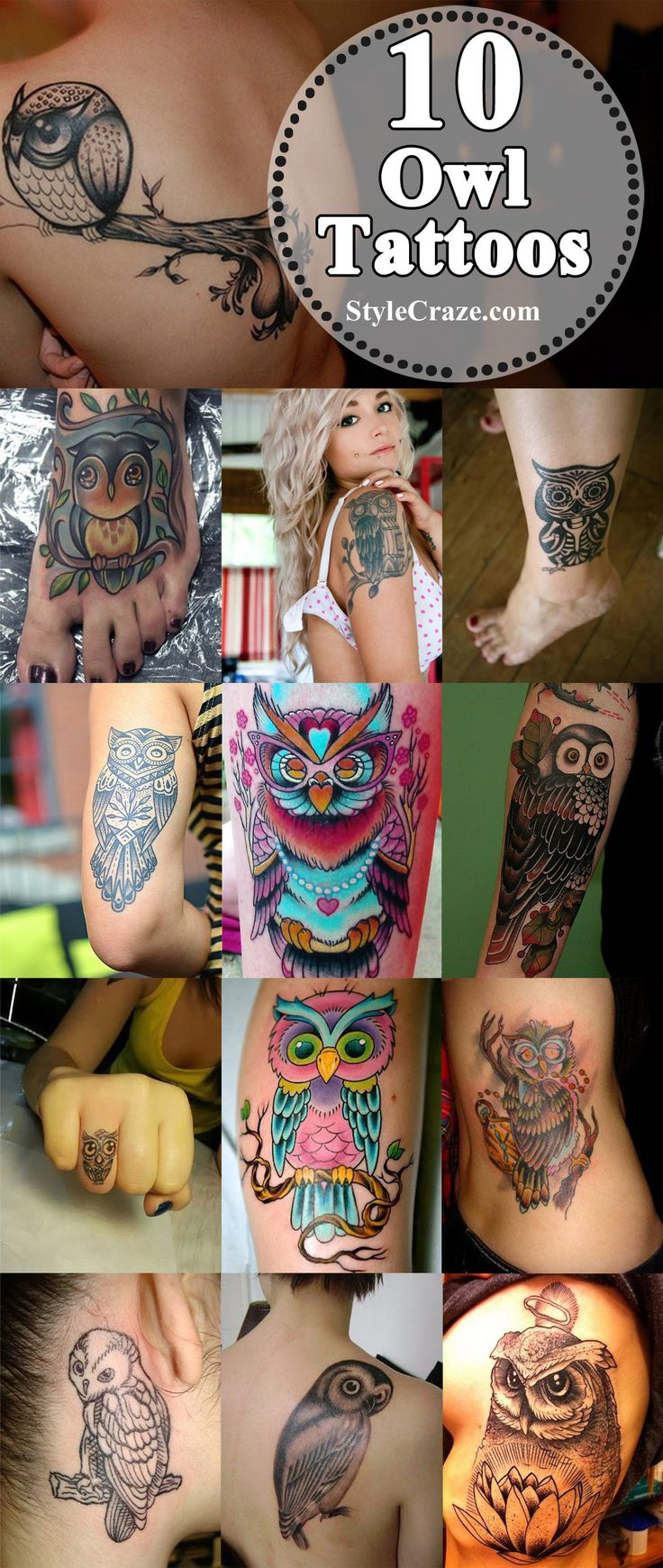 Best Owl Tattoo Designs :  Let us have a glimpse at the top 10 owl tattoos for an idea. Hope you will surely try to have one of them inked over your skin.