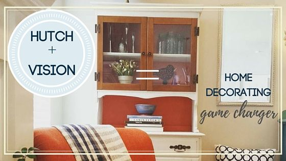 Traditional Painted Hutch + Vision = New home office accessory