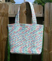 Sweet Pea Tote Bag   AllFreeCrochet.com