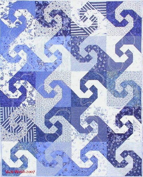 I especailly love BLUE & WHITE quilts....one day I will learn how...