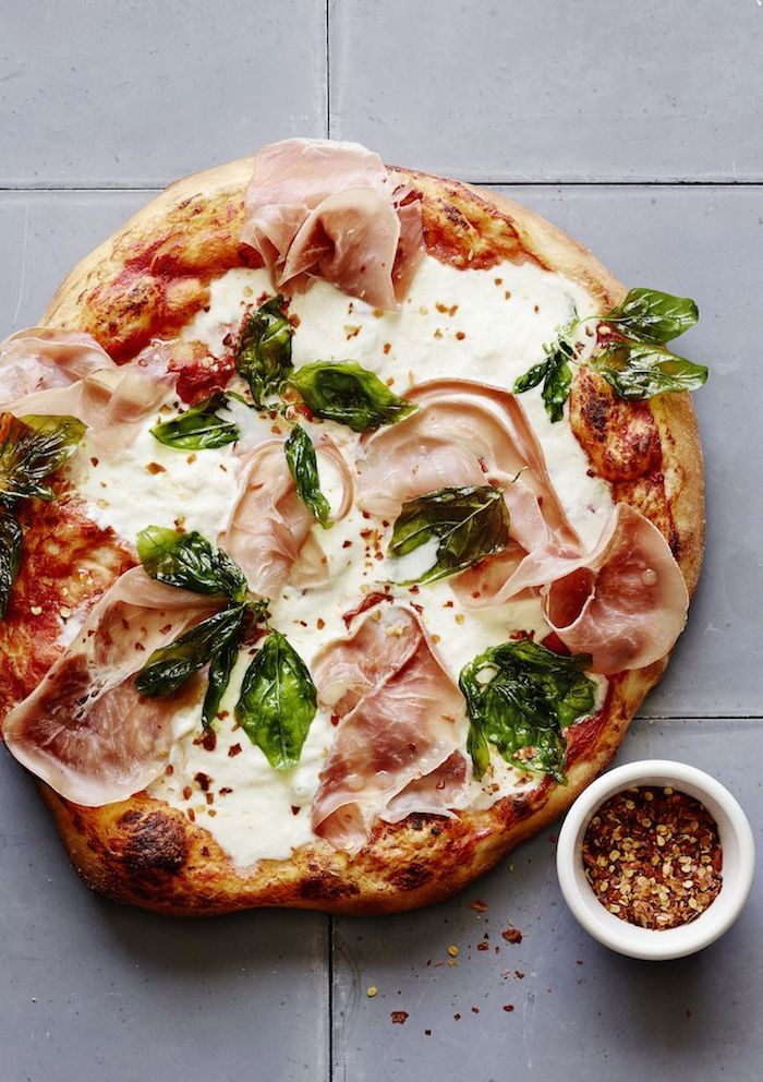 Burrata Cheese & Prosciutto Pizza (Dust Jacket)